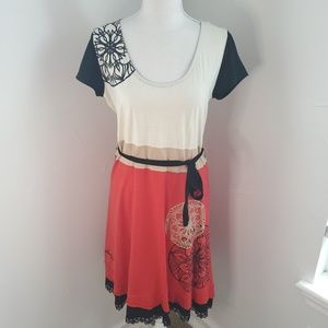 Desigual Belted Dress size L